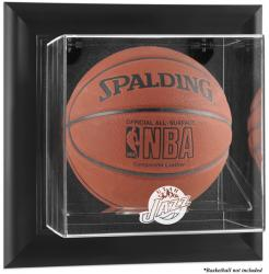 Utah Jazz Black Framed Wall-Mounted Team Logo Basketball Display Case - Mounted Memories