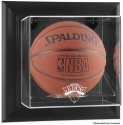 New York Knicks Black Framed Wall-Mounted Team Logo Basketball Display Case - Mounted Memories