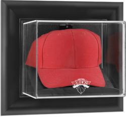 New York Knicks Black Framed Wall Mount Cap Display Case