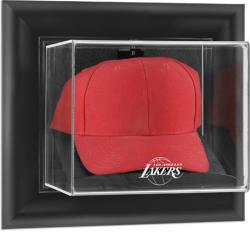 Los Angeles Lakers Black Framed Wall-Mounted Cap Display Case