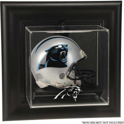 Carolina Panthers Wall-Mounted Mini Helmet Display Case - Mounted Memories