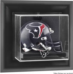 Houston Texans Black Framed Wall-Mountable Mini Helmet Logo Display Case - Mounted Memories