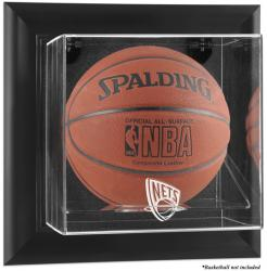 New Jersey Nets Black Framed Wall-Mounted Team Logo Basketball Display Case - Mounted Memories