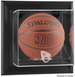 New Jersey Nets Black Framed Wall-Mounted Team Logo Basketball Display Case