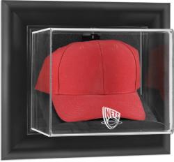 New Jersey Nets Black Framed Wall Mounted Cap Case