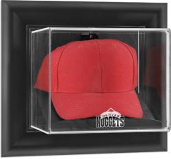 Denver Nuggets Black Framed Wall Mount Cap Display Case