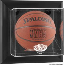 New Orleans Pelicans Black Framed Wall Mounted Basketball Case - Mounted Memories