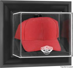 New Orleans Pelicans Black Framed Wall Mounted Cap Case