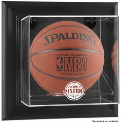 Detroit Pistons Black Framed Wall-Mounted Team Logo Basketball Display Case - Mounted Memories