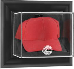 Detroit Pistons Black Framed Wall-Mounted Cap Display Case