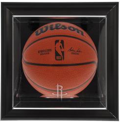 Houston Rockets Black Framed Wall-Mounted Team Logo Basketball Display Case