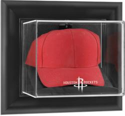 Houston Rockets Black Framed Wall-Mounted Cap Display Case