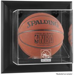 Philadelphia 76ers Black Framed Wall Mount Team Logo Basketball Display Case - Mounted Memories
