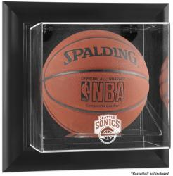 Seattle SuperSonics Black Framed Wall-Mounted Basketball Case