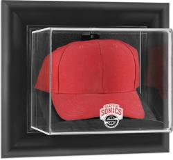 Seattle SuperSonics Black Framed Wall-Mounted Cap Case