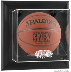 San Antonio Spurs Black Framed Wall-Mounted Team Logo Basketball Display Case - Mounted Memories