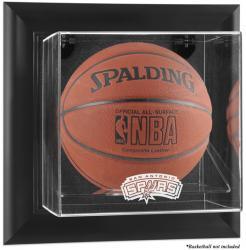 San Antonio Spurs Black Framed Wall-Mounted Team Logo Basketball Display Case