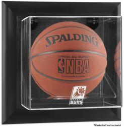 Phoenix Suns Black Framed Wall Mount Team Logo Basketball Display Case - Mounted Memories