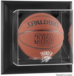 Oklahoma City Thunder Black Framed Wall-Mounted Team Logo Basketball Display Case