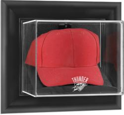 Oklahoma City Thunder Black Framed Wall-Mounted Cap Display Case