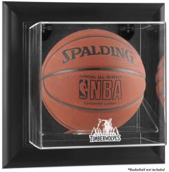 Minnesota Timberwolves Black Framed Wall Mount Team Logo Basketball Display Case - Mounted Memories