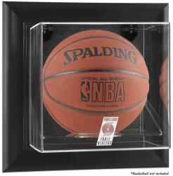 Portland Trail Blazers Black Framed Wall-Mounted Team Logo Basketball Display Case - Mounted Memories