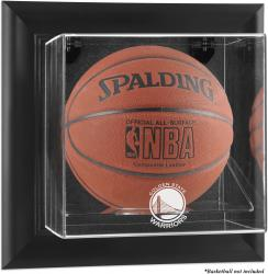 Golden State Warriors Black Framed Wall-Mounted Team Logo Basketball Display Case - Mounted Memories