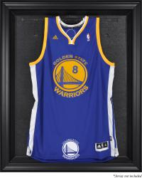 Golden State Warriors Black Framed Team Logo Jersey Display Case - Mounted Memories