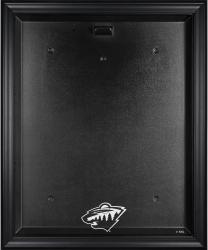 Minnesota Wild Black Framed Logo Jersey Display Case - Mounted Memories