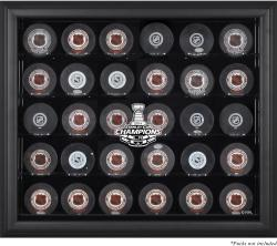 Los Angeles Kings 2014 Stanley Cup Champions Black Framed 30-Puck Logo Display Case - Mounted Memories