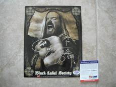 Black Label Society Zak Wylde 2011 Signed Autographed 8x10 Photo PSA Certified