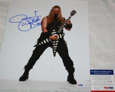 Black Label Society Zakk Wylde signed 11 x 14, Ozzy Osbourne, Skullage, PSA/DNA
