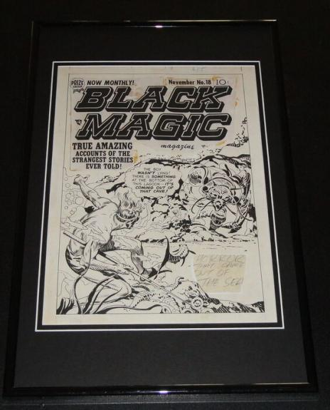 Black Magic #18 Cover Framed 11x17 Photo Display Official Repro Jack Kirby