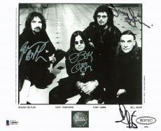 Black Sabbath (4) Osbourne, Butler, Iommi & Ward Signed 8X10 Publicity Photo BAS