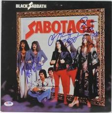 Black Sabbath (4) Osbourne, Butler, Ward & Iommi Signed Album Cover PSA #V09704