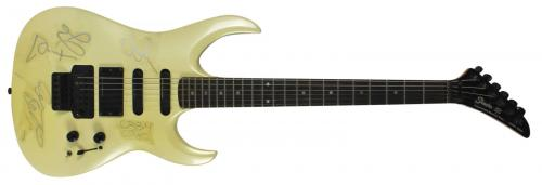 Black Sabbath (4) Osbourne, Ward, Butler & Iommi Signed Guitar BAS #A10922