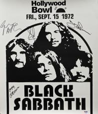 Black Sabbath (4) Ozzy Osbourne Signed 18x20.75 1972 Concert Poster PSA #AB03325