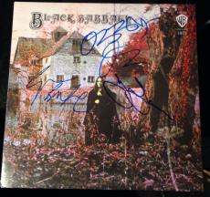 Black Sabbath Band Signed Autograph Original First Album Lp Coa Ozzy Osbourne +3