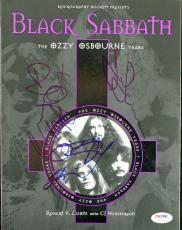 Black Sabbath Group Signed Autographed Ozzy Butler Iommi Ward Program PSA/DNA