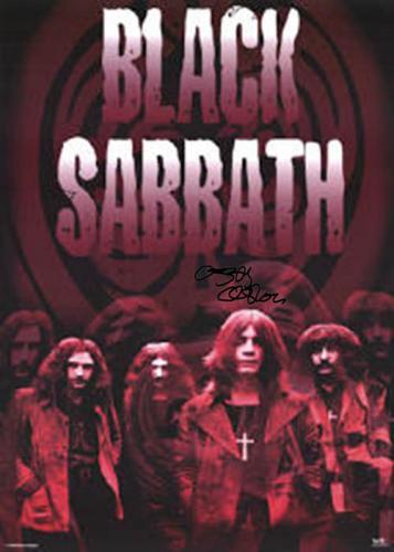 Black Sabbath Ozzy Autographed Facsimile Signed Grow Up Poster