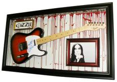 Black Sabbath Ozzy Osbourne Autographed Guitar Display Case Psa