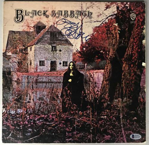 Black Sabbath Ozzy Osbourne Signed Autographed Album LP Beckett BAS