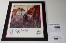 Black Sabbath Ozzy Osbourne Tony Iommi Geezer Butler Bill Ward Signed Poster Psa