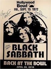Black Sabbath Signed Autographed 18x24 Photo Ozzy Osbourne Tony Iommi Butler
