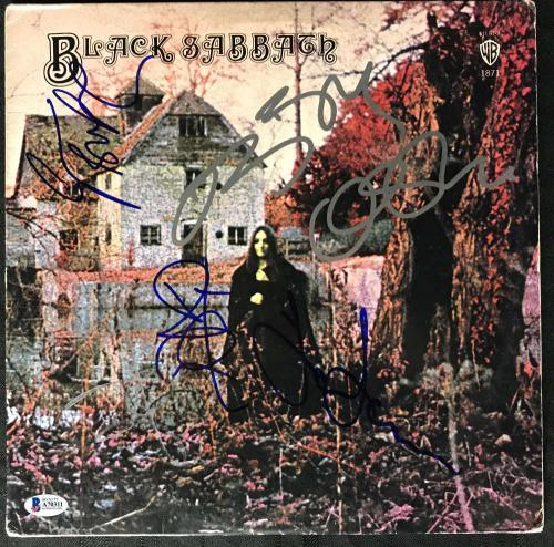 Black Sabbath Signed Autographed Album Ozzy Ward Butler +1 Beckett BAS
