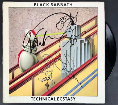 Black Sabbath Signed Autographed Technical Ecstasy Album Beckett Bas Coa A00418