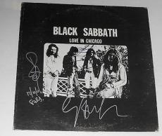 BLACK SABBATH Signed RARE LOVE IN CHICAGO ALBUM Ozzy Osbourne Bill Ward GEEZER