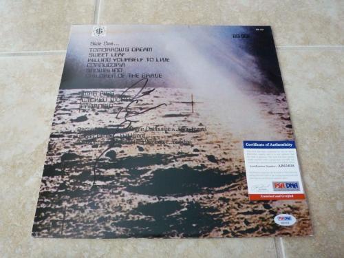 Black Sabbath Tony Iommi Live Signed Autographed LP Album Record PSA Certified