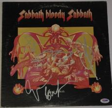 BLACK SABBATH w/ Ozzy Osbourne GROUP Signed Bloody Sabbath ALBUM LP w/ PSA DNA