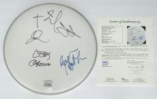 Black Sabbath X4 Ozzy Osbourne Tony Iommi Geezer & Bill Signed Drumhead Jsa Loa